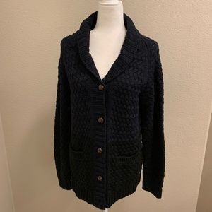 Obey two tones color block chunky sweater cardigan